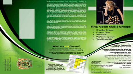 Vocal/Piano Brochure